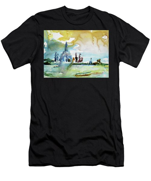 Along The Chao Phaya River Men's T-Shirt (Athletic Fit)