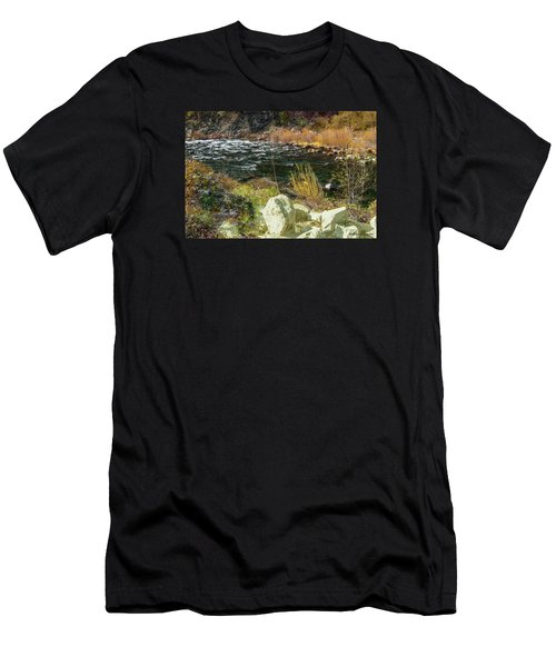 Along The Stream Men's T-Shirt (Athletic Fit)