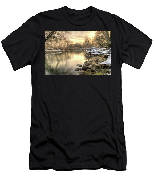 Along The Thames River Signed Men's T-Shirt (Athletic Fit)