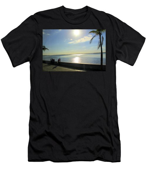 Along The Malecon In Cienfuegos, Cuba Men's T-Shirt (Athletic Fit)