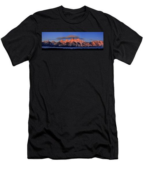 Alpenglow Tetons 2 Men's T-Shirt (Athletic Fit)