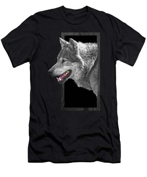 Alpha Male Wolf - You Look Tasty Men's T-Shirt (Slim Fit) by Gill Billington