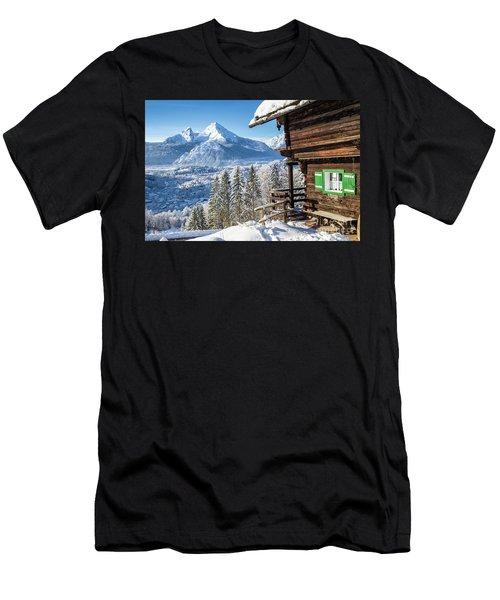 Alpine Winter Wonderland Men's T-Shirt (Athletic Fit)