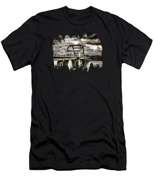 Alsea Bay Bridge Men's T-Shirt (Athletic Fit)