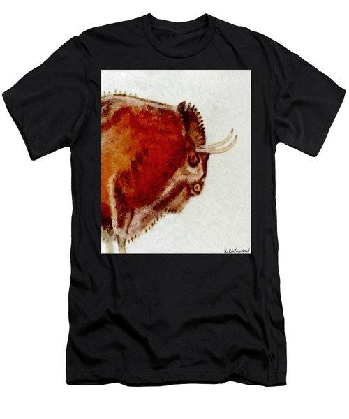 Altamira Prehistoric Bison Detail Men's T-Shirt (Athletic Fit)
