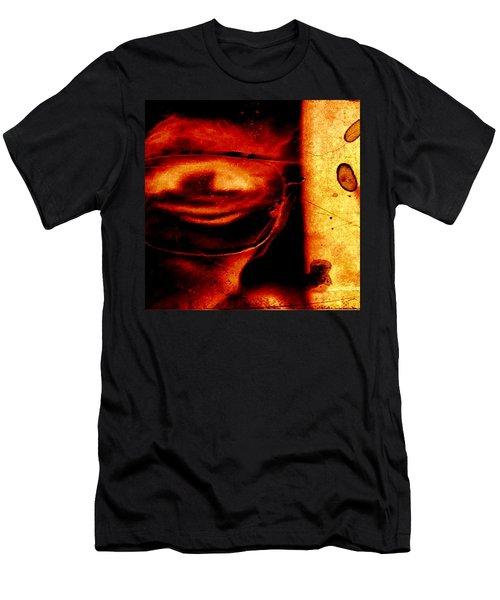 Altered Image In Red Men's T-Shirt (Slim Fit) by Dan Twyman