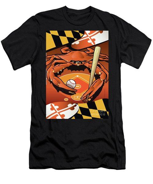 Baltimore Orioles Baseball Crab Maryland Men's T-Shirt (Athletic Fit)