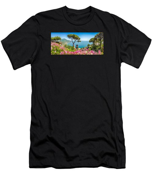 Amalfi Coast From Villa Rufolo Gardens In Ravello, Campania, Ita Men's T-Shirt (Athletic Fit)