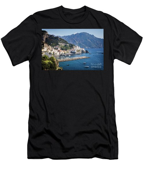 Men's T-Shirt (Athletic Fit) featuring the photograph Amalfi Harbor by Scott Kemper