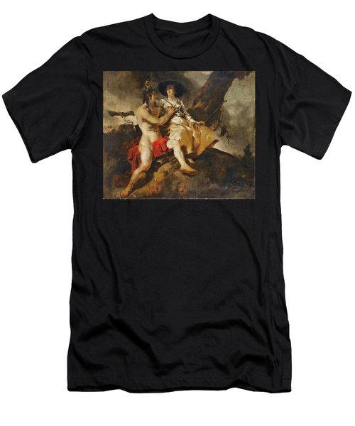 Amaryllis Crowning Mirtillo Men's T-Shirt (Athletic Fit)