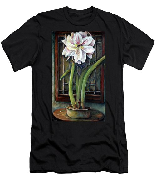 Amaryllis In The Window Men's T-Shirt (Athletic Fit)