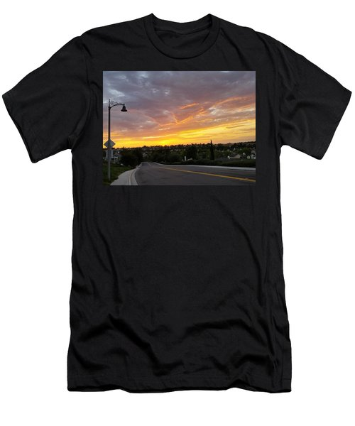 Colorful Sunset In Mission Viejo Men's T-Shirt (Athletic Fit)