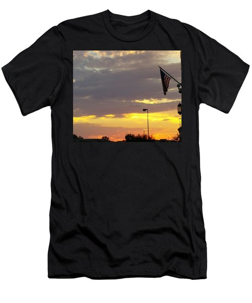 Patriotic Sunset Men's T-Shirt (Athletic Fit)