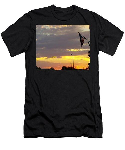 Patriotic Sunset Men's T-Shirt (Athletic Fit)