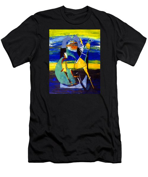 Ameeba 32- Horse And Pear Men's T-Shirt (Athletic Fit)