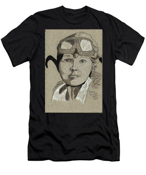 Amelia Earhart Men's T-Shirt (Athletic Fit)