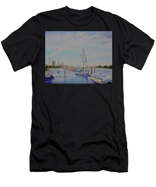 Amelia Island Port Men's T-Shirt (Athletic Fit)
