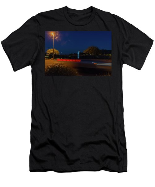 America At Night Men's T-Shirt (Athletic Fit)