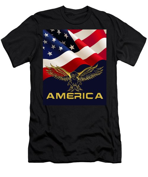 America Men's T-Shirt (Athletic Fit)