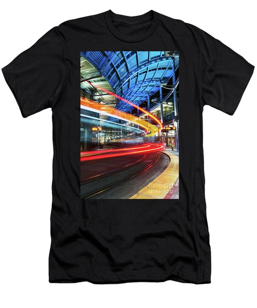 America Plaza Station Men's T-Shirt (Athletic Fit)