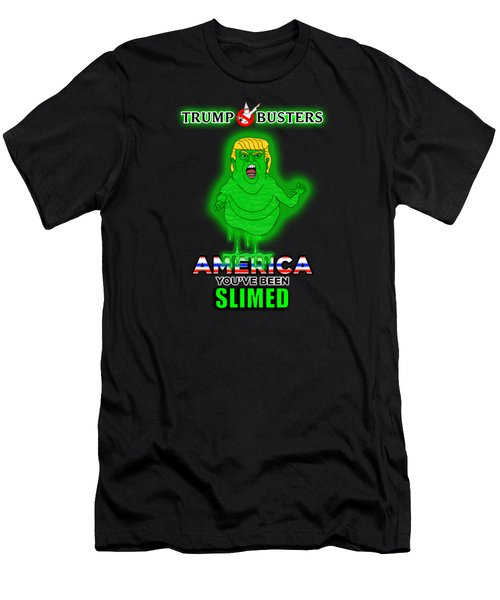 America, You've Been Slimed Men's T-Shirt (Slim Fit) by Sean Corcoran