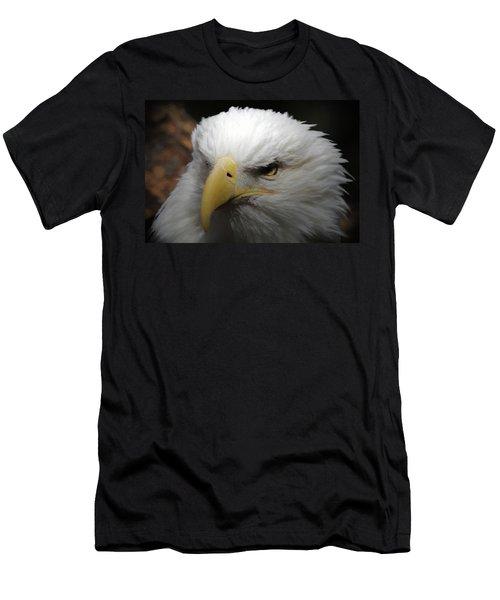 Men's T-Shirt (Slim Fit) featuring the digital art American Bald Eagle Portrait 3 by Ernie Echols