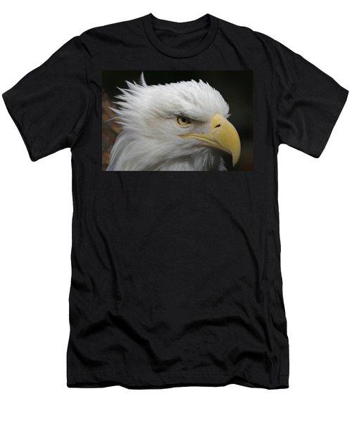 Men's T-Shirt (Slim Fit) featuring the digital art American Bald Eagle Portrait by Ernie Echols