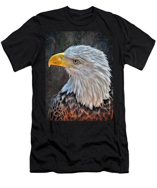 Men's T-Shirt (Slim Fit) featuring the photograph American Bald Eagle by Savannah Gibbs
