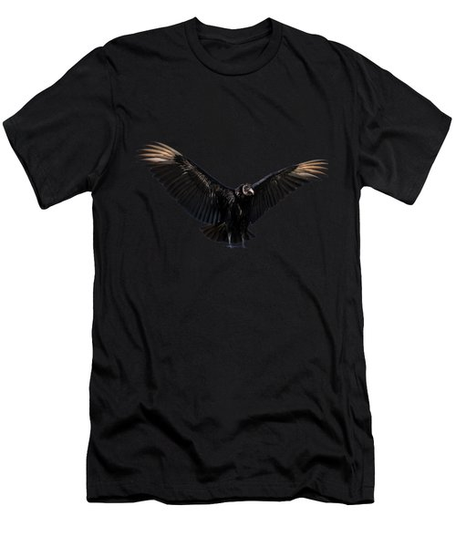 American Black Vulture Men's T-Shirt (Slim Fit) by Zina Stromberg