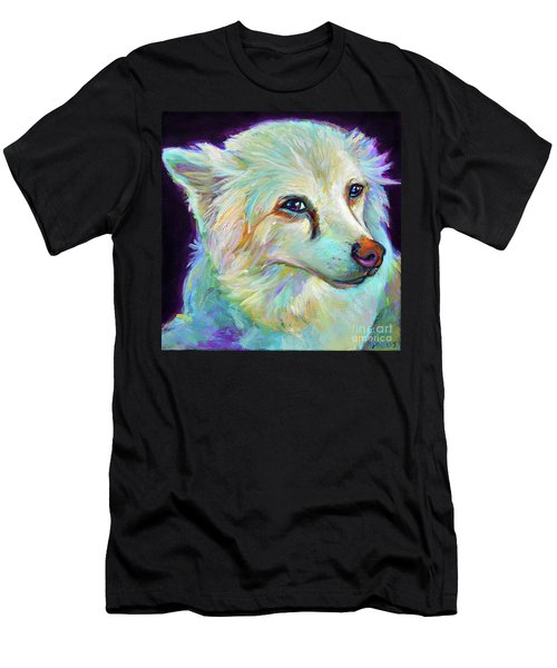 American Eskimo Men's T-Shirt (Slim Fit) by Robert Phelps
