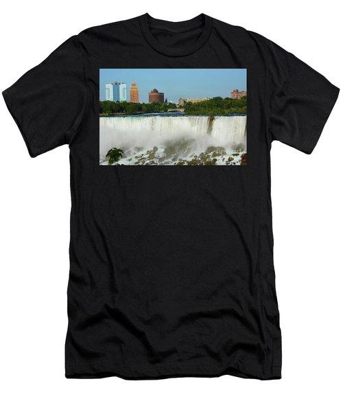 American Falls With Bridal Veil Men's T-Shirt (Athletic Fit)