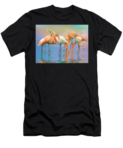 American Flamingos Men's T-Shirt (Athletic Fit)
