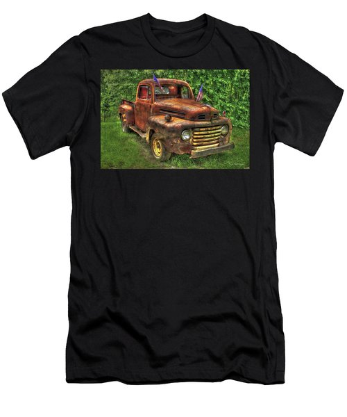 American Ford 1950 F-1 Ford Pickup Truck Art Men's T-Shirt (Athletic Fit)