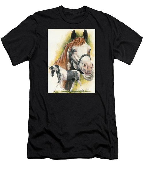 Men's T-Shirt (Athletic Fit) featuring the mixed media American Paint by Barbara Keith