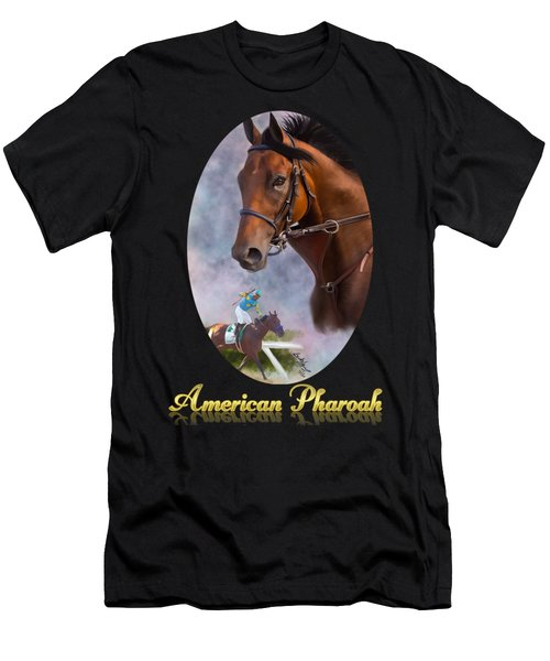 American Pharoah Framed Men's T-Shirt (Athletic Fit)