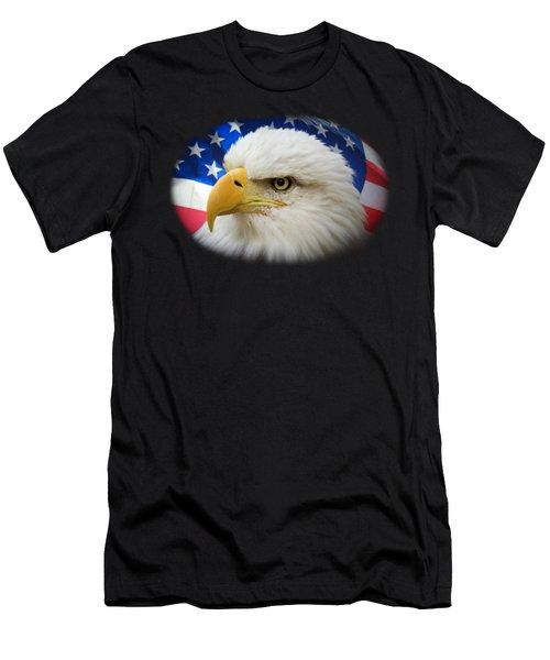 American Pride Men's T-Shirt (Slim Fit) by Shane Bechler