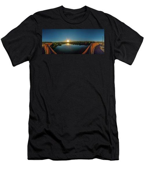American River At Sunrise - Panorama Men's T-Shirt (Athletic Fit)