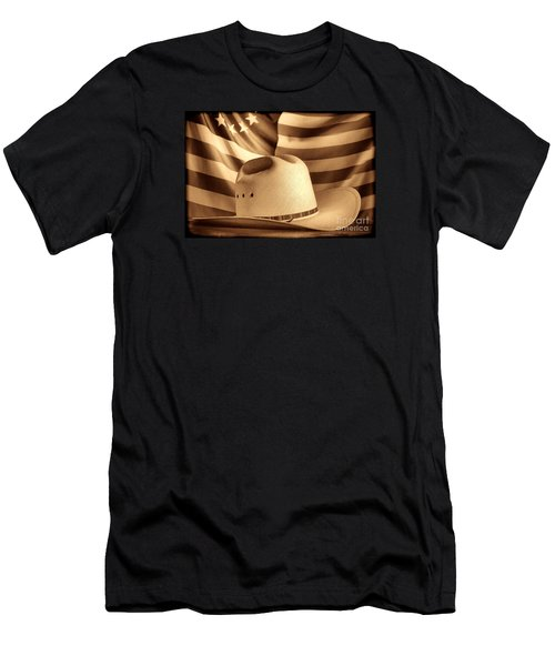 American Rodeo Cowboy Hat Men's T-Shirt (Athletic Fit)