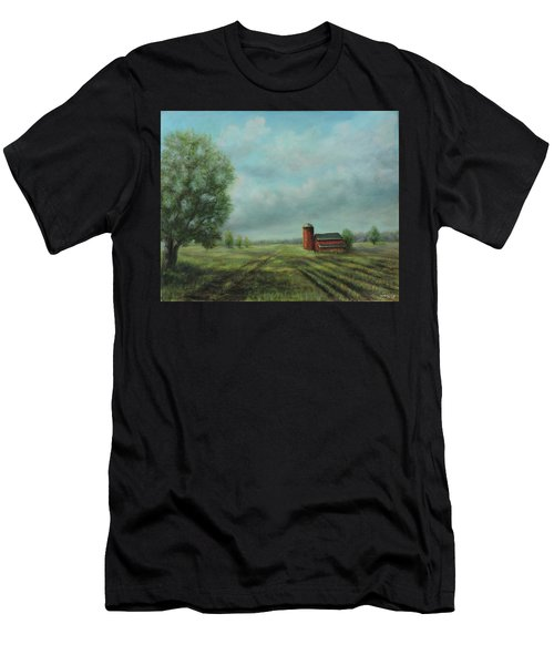 American Scene Red Barn  Men's T-Shirt (Athletic Fit)