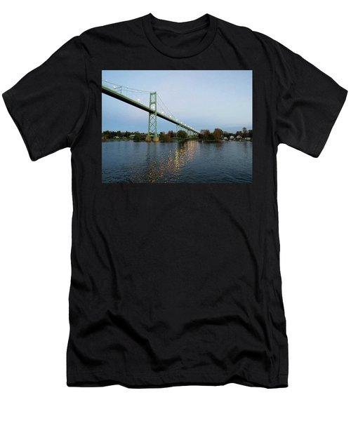 American Span Thousand Islands Bridge Men's T-Shirt (Athletic Fit)