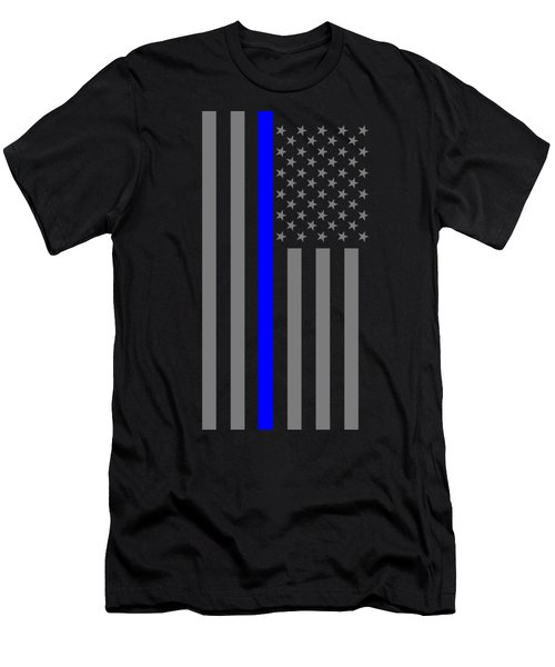 American Thin Blue Line Men's T-Shirt (Athletic Fit)