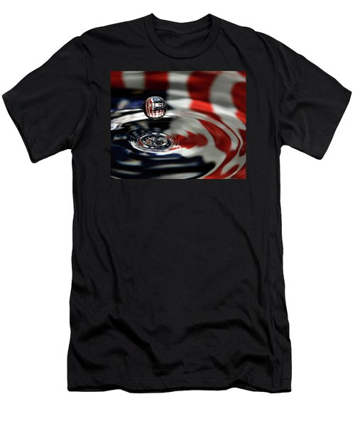 American Water Drop Men's T-Shirt (Athletic Fit)