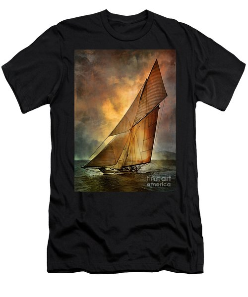 Men's T-Shirt (Slim Fit) featuring the digital art America's Cup 1 by Andrzej Szczerski