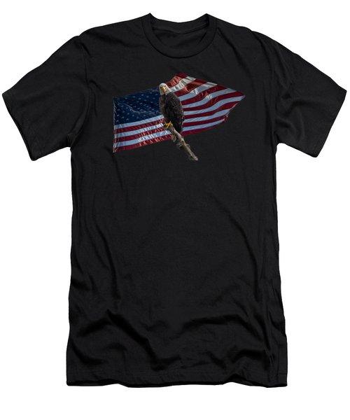 America's Eagle  Men's T-Shirt (Athletic Fit)