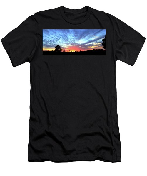 Men's T-Shirt (Slim Fit) featuring the photograph City On A Hill - Americus, Ga Sunset by Jerry Battle