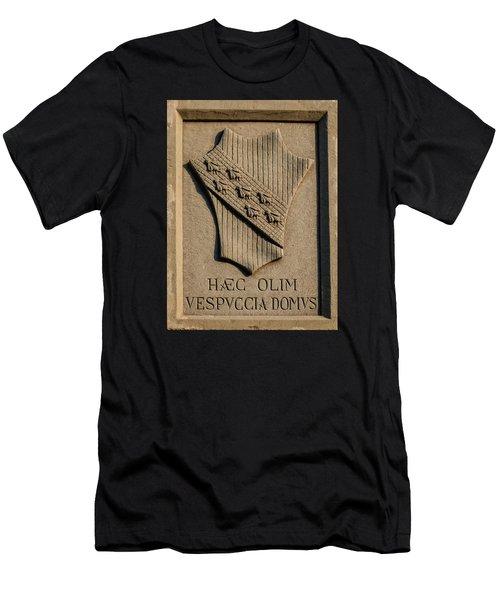 Amerigo Vespucci Lived Here Men's T-Shirt (Athletic Fit)