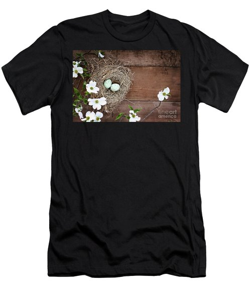 Amid The Dogwood Blossoms Men's T-Shirt (Athletic Fit)