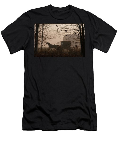 Amish Buggy Fall Men's T-Shirt (Athletic Fit)