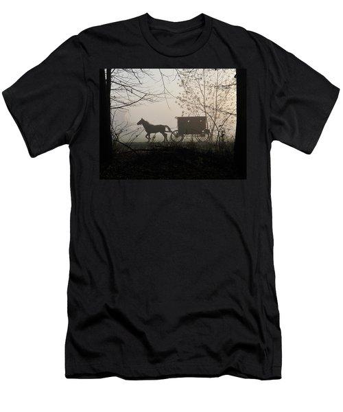 Amish Buggy Foggy Sunday Men's T-Shirt (Athletic Fit)
