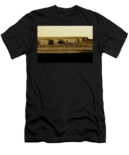 Amish Cornfield In Shadows Men's T-Shirt (Athletic Fit)